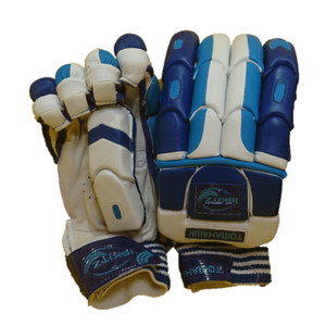 blue tomahawk cricket gloves - junior