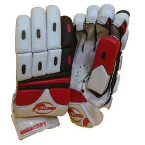 red sledgehammer cricket gloves - junior